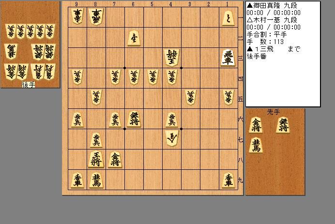 郷田九段vs木村九段