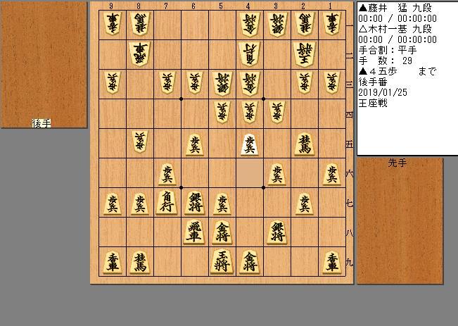 木村九段vs藤井九段