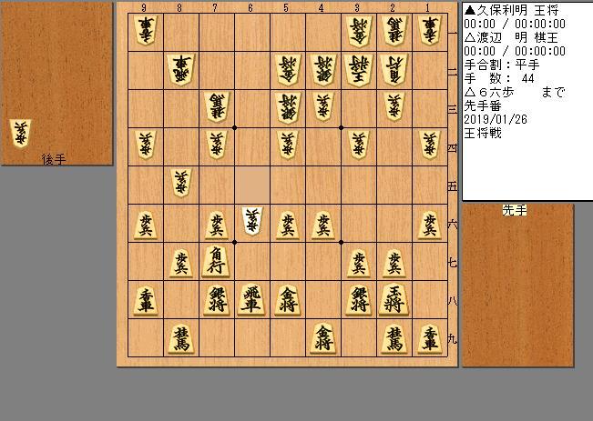 久保王将vs渡辺棋王