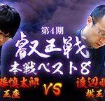 第4期叡王戦本戦ベスト8の中継と日程!斎藤慎太郎王座と渡辺明棋王の成績とレーティング