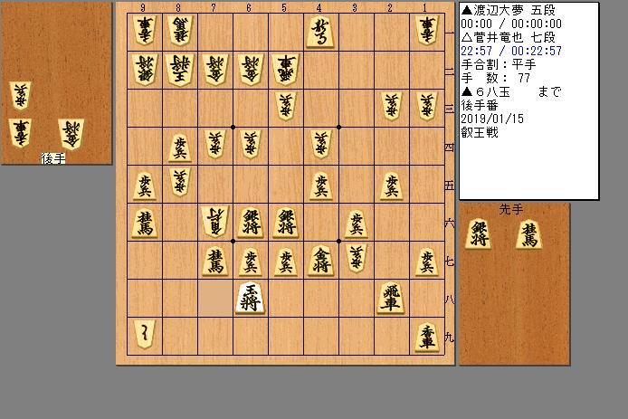 菅井七段vs渡辺五段
