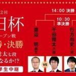 渡辺明棋王vs千田翔太六段の棋譜速報!朝日杯将棋オープン戦準決勝