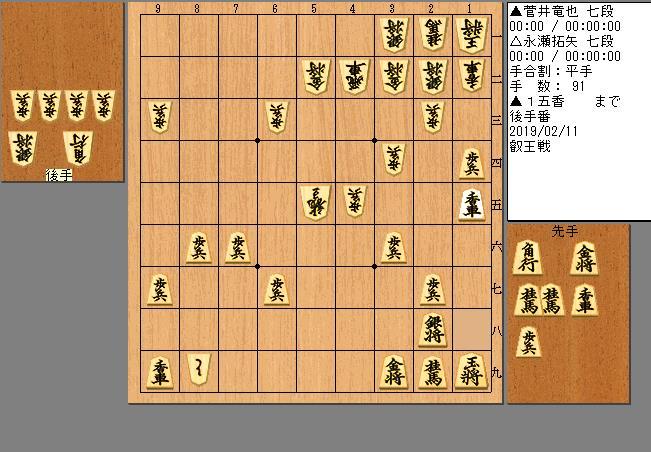 菅井七段vs永瀬七段