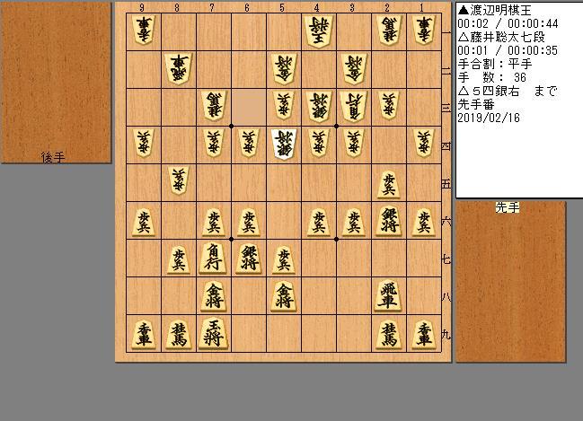 藤井七段vs渡辺棋王