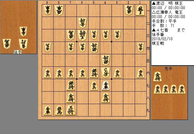 渡辺棋王vs広瀬竜王