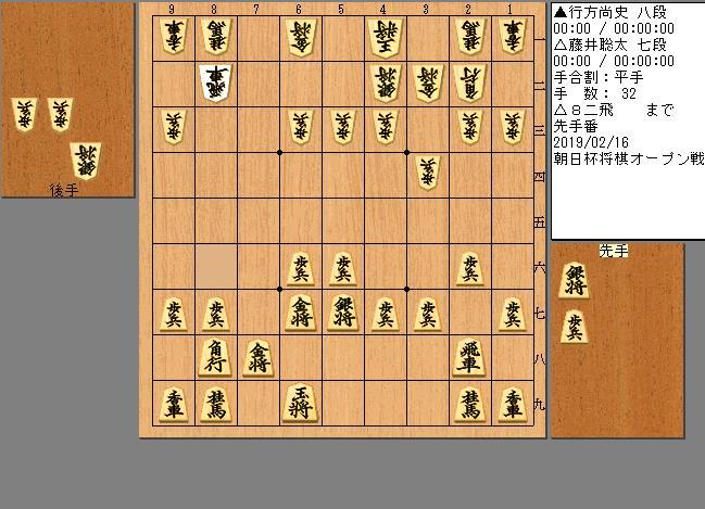 藤井七段vs行方八段