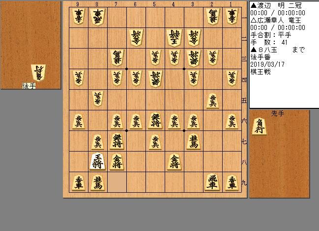 渡辺二冠vs広瀬竜王