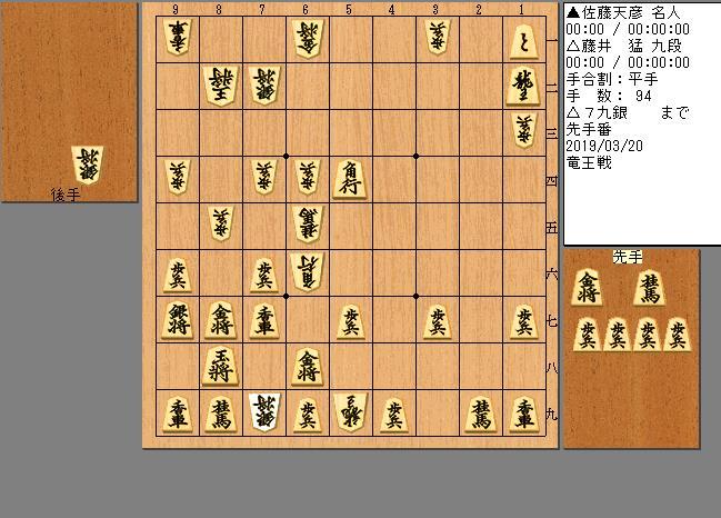 佐藤名人vs藤井九段