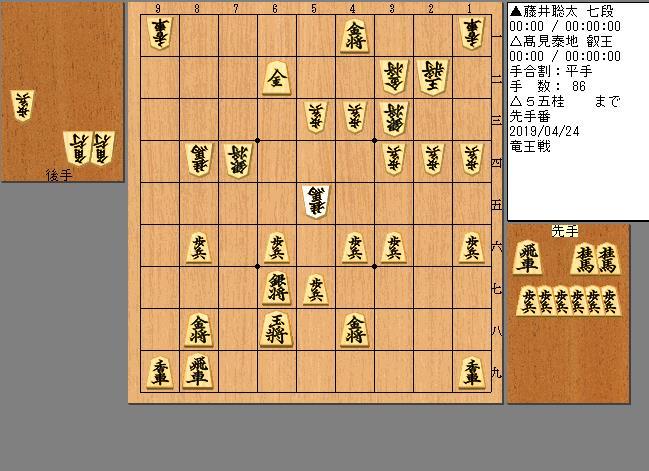 藤井七段vs髙見叡王