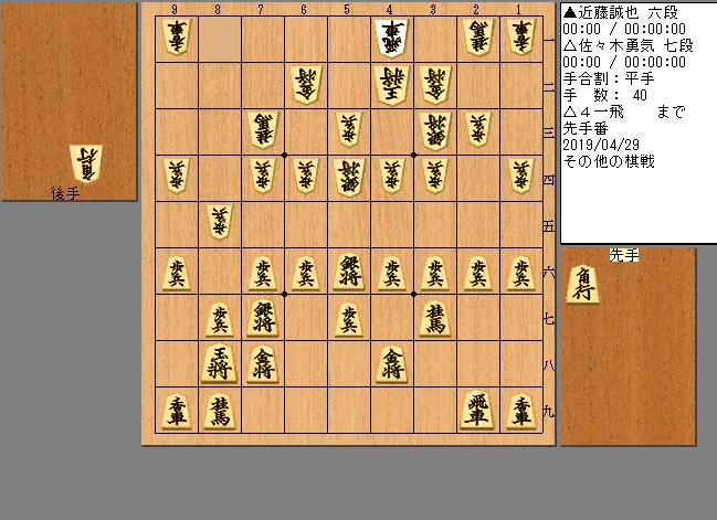 近藤六段vs佐々木七段