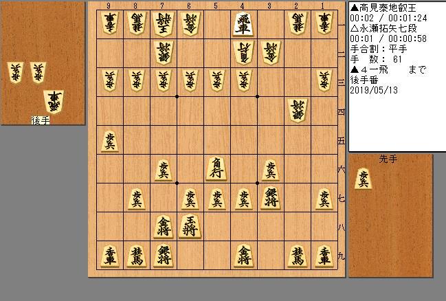 高見叡王vs永瀬七段
