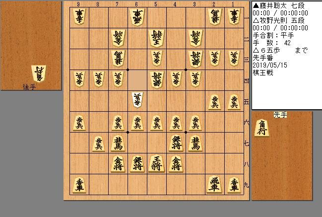 藤井七段vs牧野五段