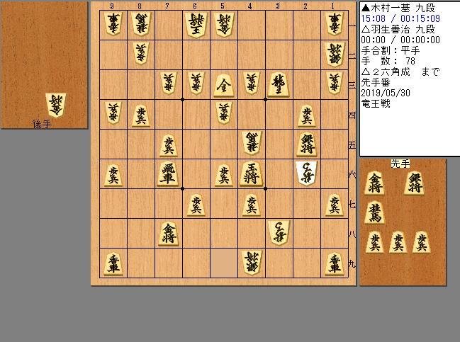 木村九段vs羽生九段