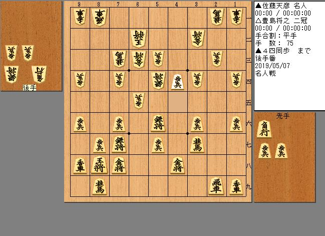 佐藤名人vs豊島二冠