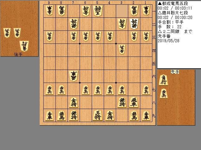 藤井七段vs都成五段