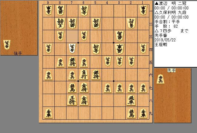 久保九段vs渡辺二冠