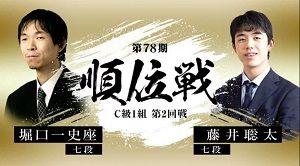 順位戦C級1組 藤井聡太七段vs堀口一史座七段
