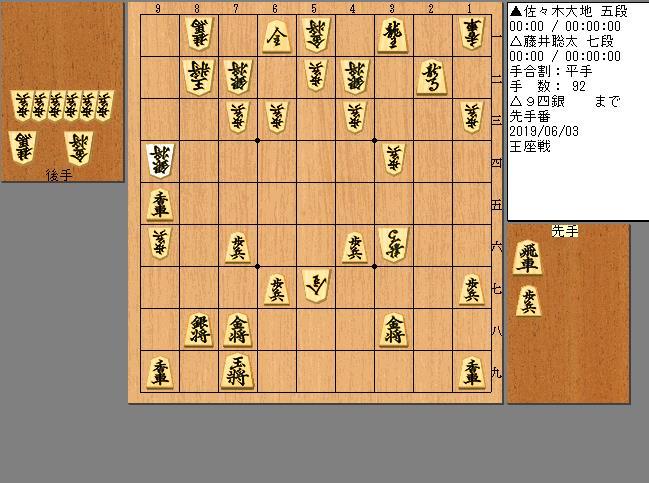 藤井七段vs佐々木五段