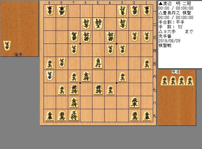 渡辺二冠vs豊島棋聖