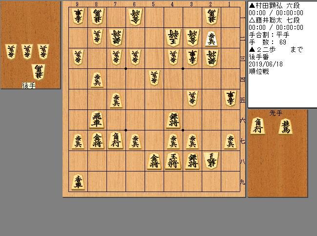 村田六段vs藤井七段
