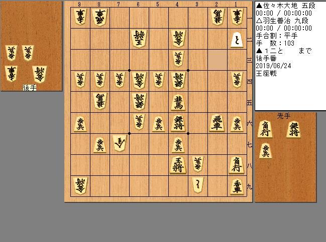 佐々木五段vs羽生九段
