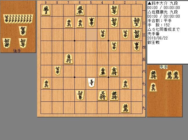 佐藤九段vs鈴木九段