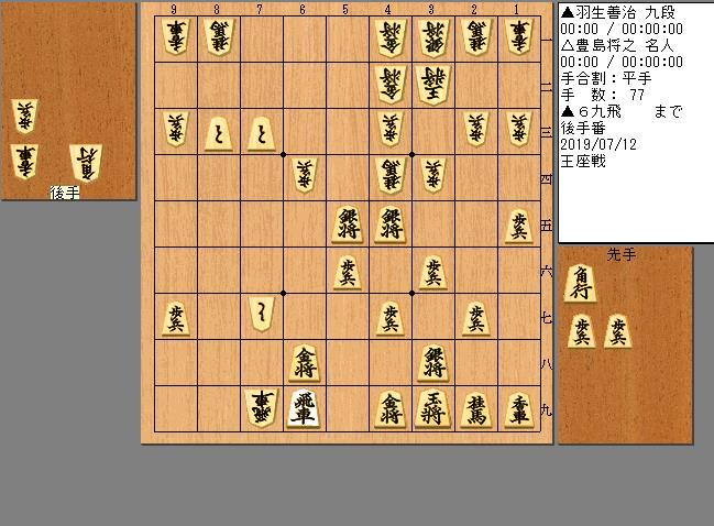 羽生九段vs豊島名人