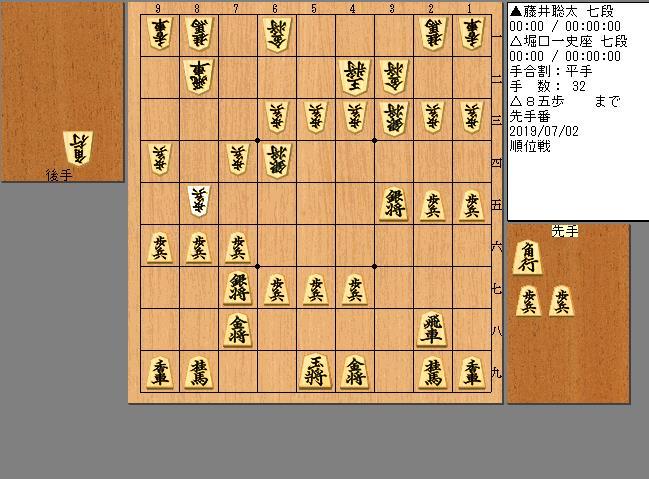 藤井七段vs堀口七段