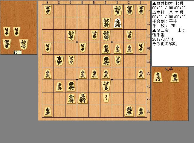 木村九段vs藤井七段
