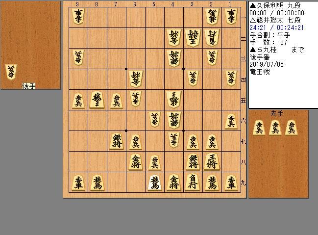 藤井七段vs久保九段