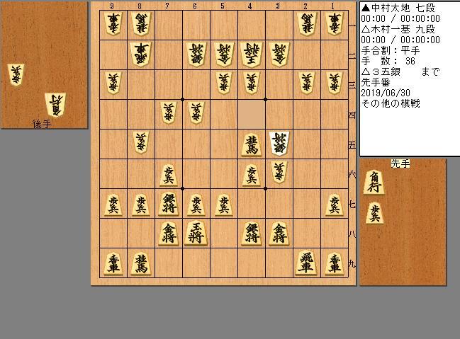 中村七段vs木村九段