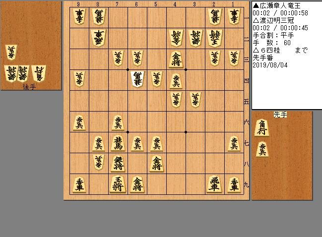 広瀬竜王vs渡辺三冠