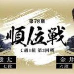 順位戦C級1組 金井恒太六段vs藤井聡太七段の棋譜速報!