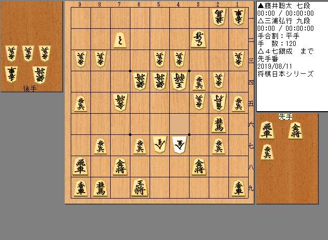 藤井七段vs三浦九段