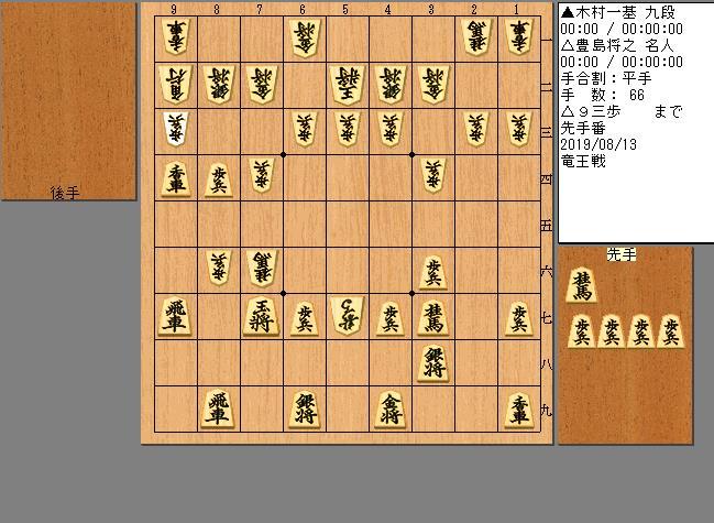 豊島名人vs木村九段