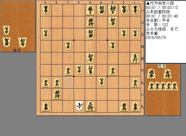 行方八段vs本田四段