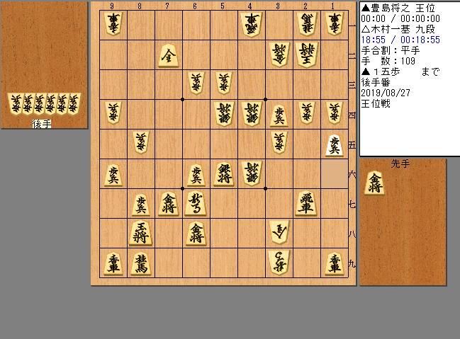 豊島王位vs木村九段