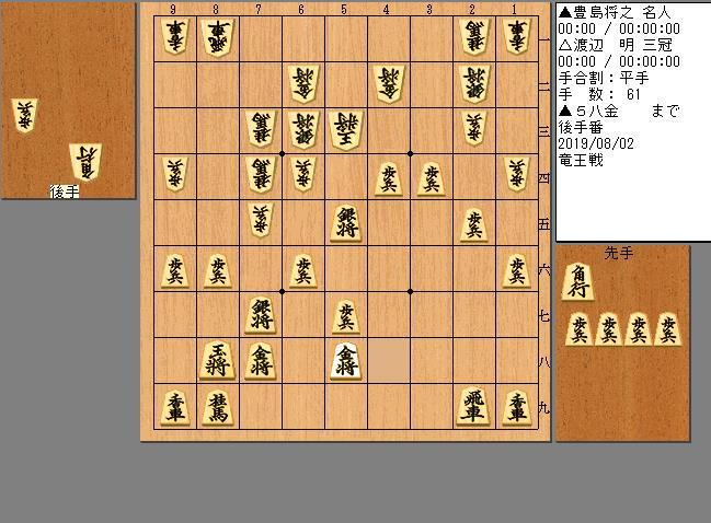 豊島名人vs渡辺三冠