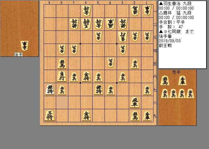 羽生九段vs藤井九段