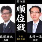 順位戦A級 佐藤康光九段vs木村一基九段の対局速報!中継と日程