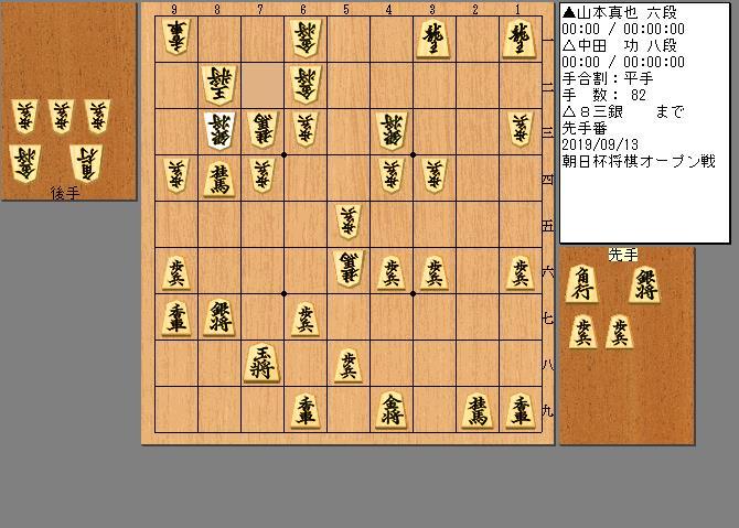 中田八段vs山本六段