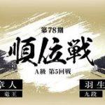 広瀬章人竜王vs羽生善治九段の対局速報!順位戦A級の中継と日程