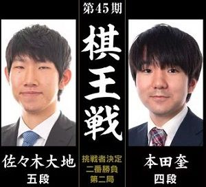 佐々木大地五段vs本田奎四段