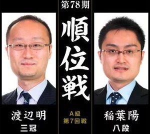 渡辺明三冠vs稲葉陽八段