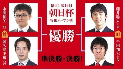 第13回朝日杯将棋オープン戦 準決勝・決勝