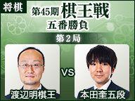渡辺明棋王vs本田奎五段