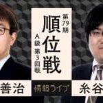 第79期順位戦A級 第3回戦 羽生善治九段vs糸谷哲郎八段の対局速報!中継と日程