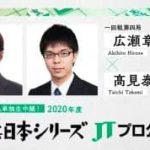 将棋日本シリーズJTプロ公式戦一回戦第四局 広瀬章人八段vs高見泰地七段の対局速報