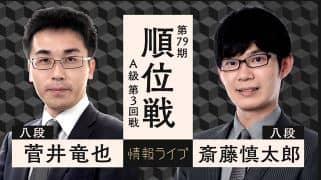 菅井竜也八段vs斎藤慎太郎八段
