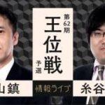 第62期 王位戦 予選 畠山鎮八段vs糸谷哲郎八段の対局速報!中継と日程